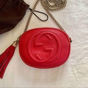 Gucci Bags - GUCCI Mini Soho Disco Bag / Red